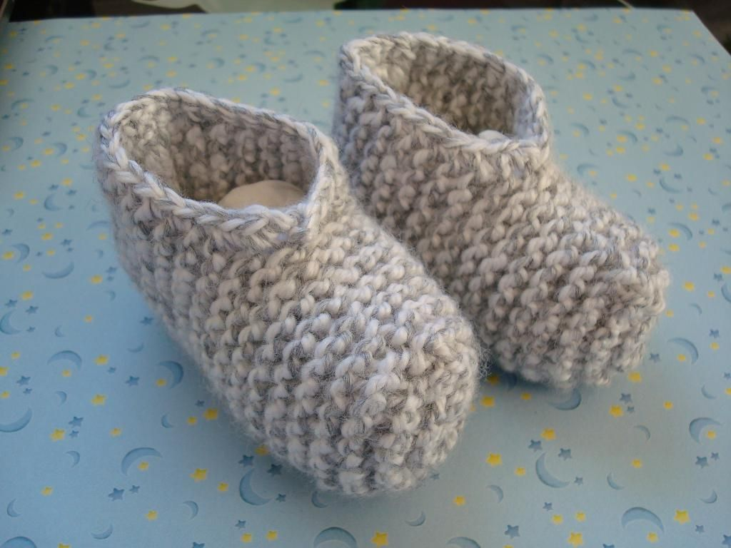 baby booties knitting patterns free | Garter Baby Booties by ...