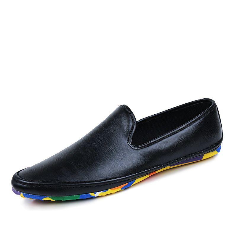 les mocassins mocassins façon de cuir façon mocassins confortable de chaussures des hommes c73f44