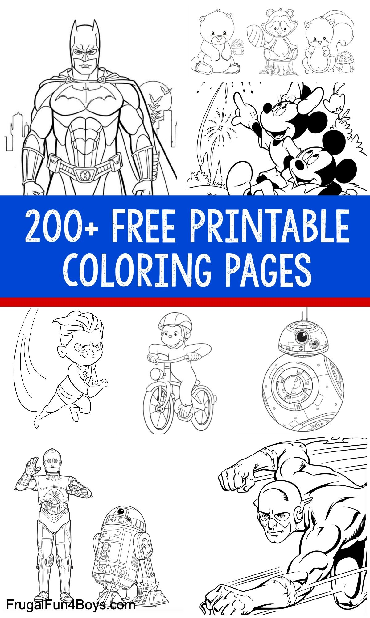 200 Printable Coloring Pages For Kids Frugal Fun For Boys And Girls Kids Printable Coloring Pages Coloring Pages For Boys Free Printable Coloring Pages [ 2000 x 1200 Pixel ]
