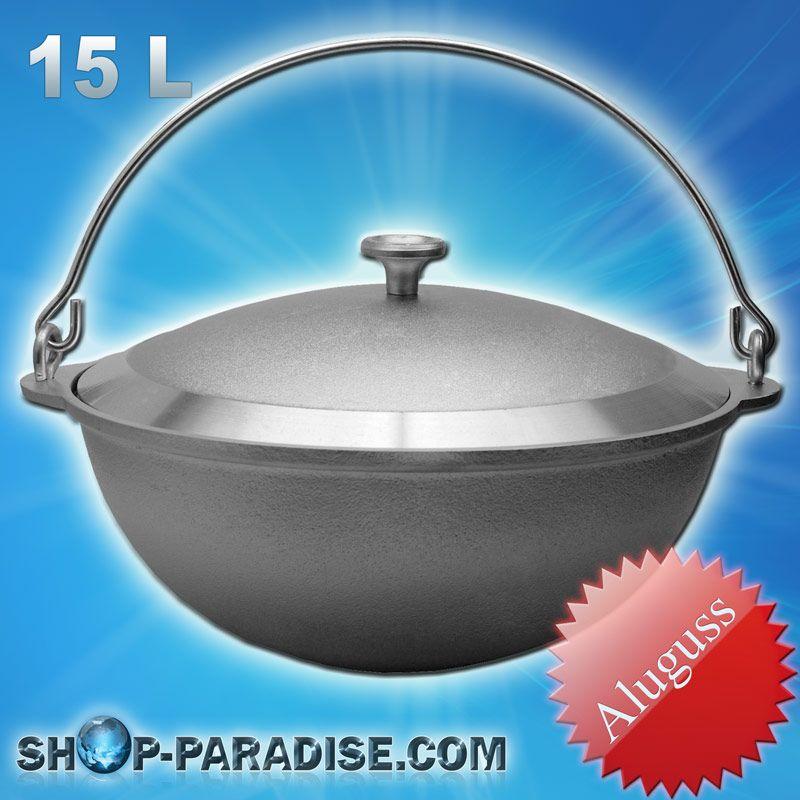 SHOP-PARADISE.COM:  Topf für Schwenkgrills, Kasan für Camping 15L 57,12 €