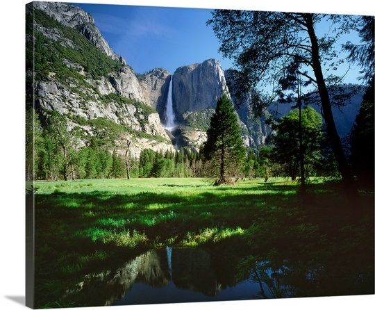 California Yosemite National Park Yosemite Falls With Spring Flow In Yosemite Valley Wall Art Canvas Prints Framed Prints Wall Peels California Yosemite National Park Yosemite Falls Yosemite Valley