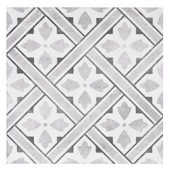 Laura Ashley Mr Jones Charcoal 33cm X 33cm Floor Tile