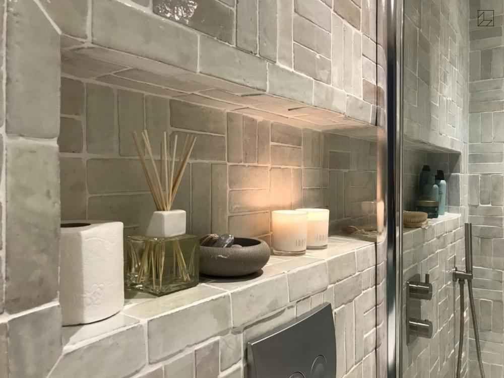 Eigen Huis en Tuin badkamer Met Marokkaanse Bejmat blanc van ...