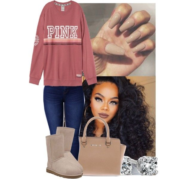 A fashion look from February 2017 featuring UGG Australia ankle booties, Michael Kors handbags and Blue Nile earrings. Browse and shop related looks.