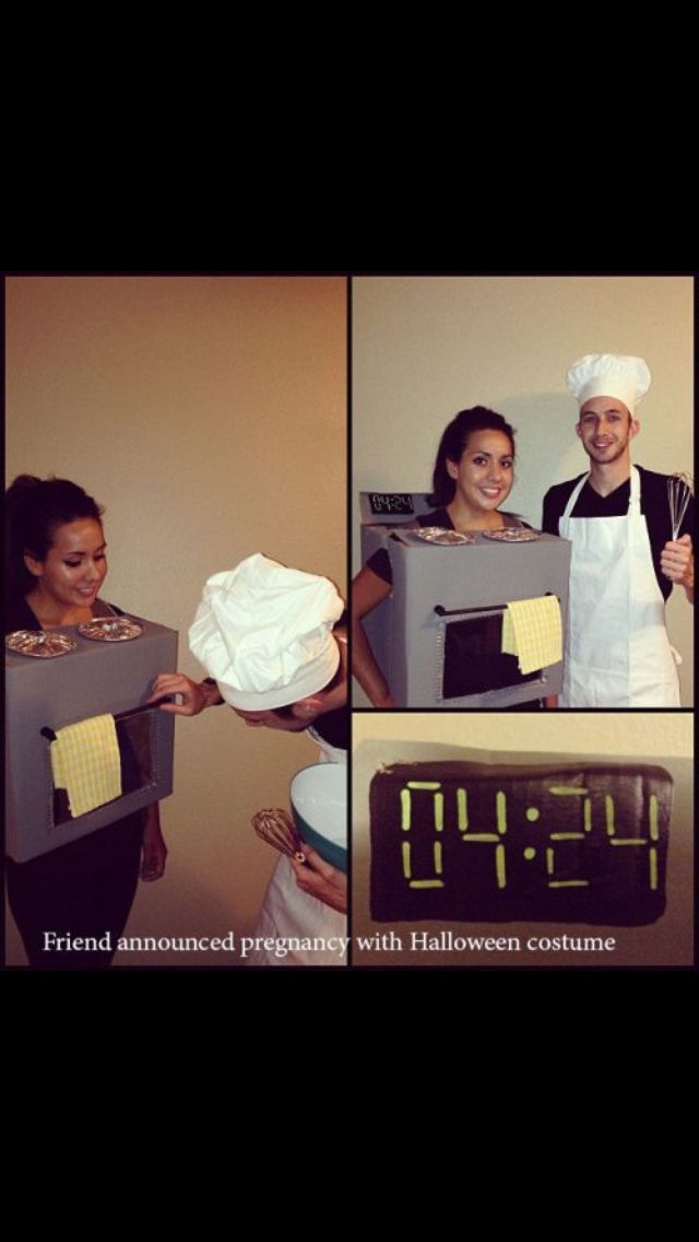 Halloween pregnancy announcement Snaughling - Outfits Pinterest - pregnant couple halloween costume ideas
