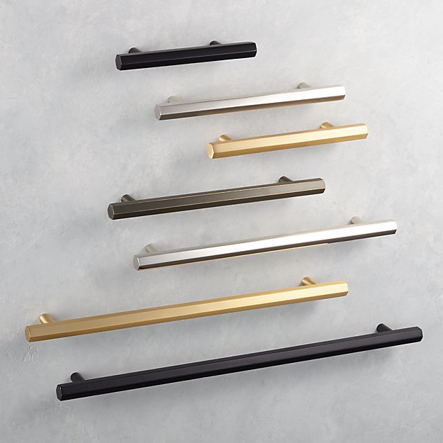"""Hex Brushed Brass 3"""" Handle + Reviews CB2 in 2020"""
