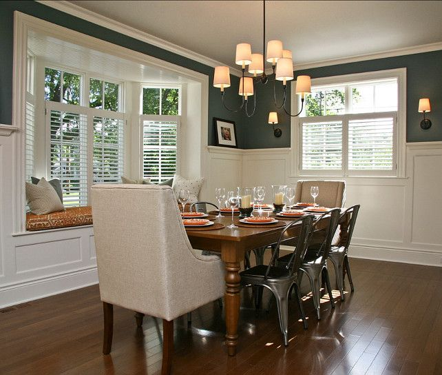 "Feast Your Eyes Gorgeous Dining Room Decorating Ideas: Paint Color Is ""Yorktowne Green HC-133 By Benjamin Moore"