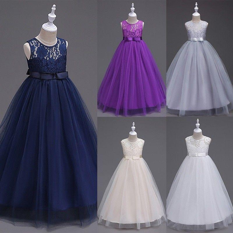 Flower Girls Princess Dress Kids Party Wedding Pageant Bridesmaid Formal Dresses