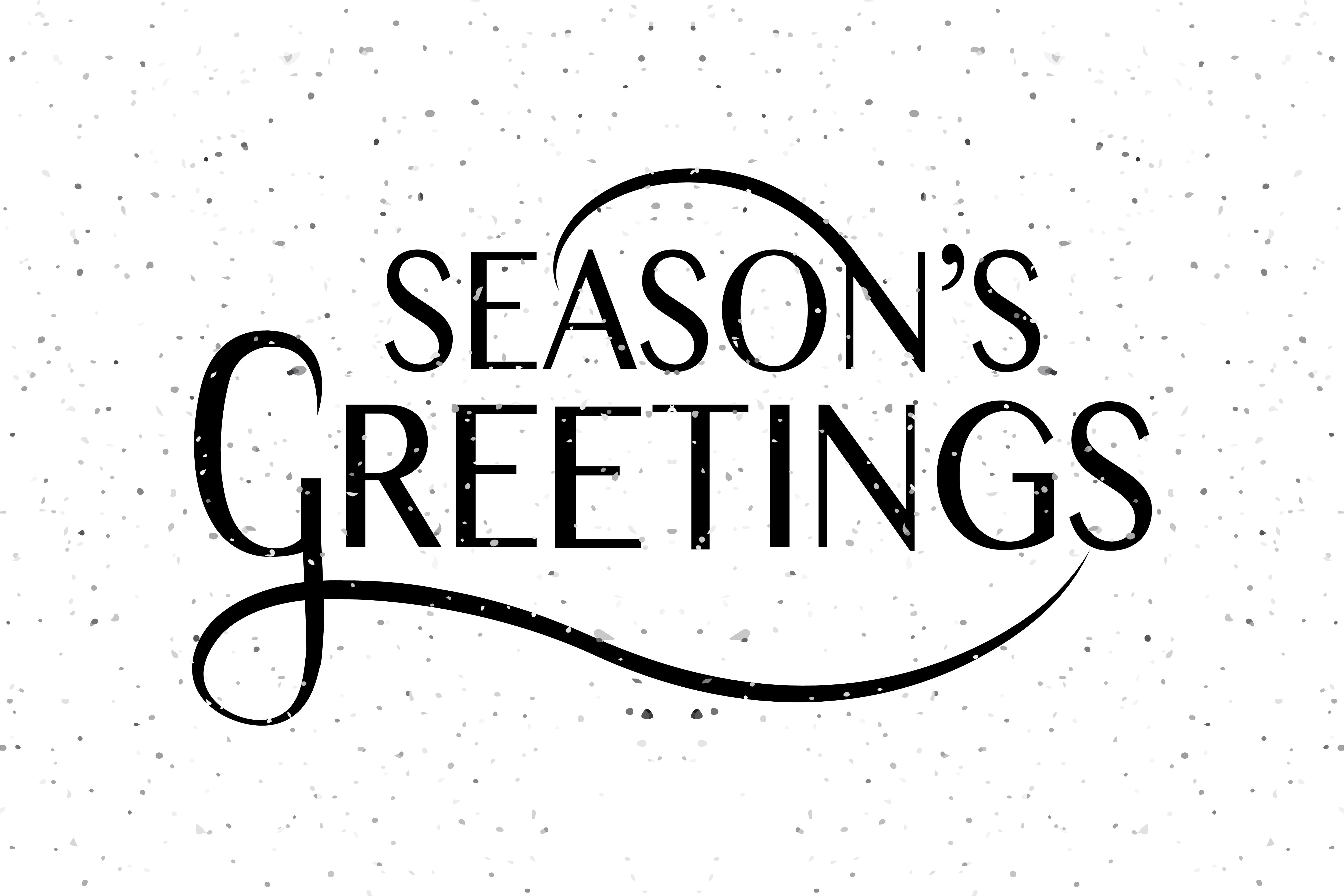 Seasons greetings typography typography card templates and template seasons greetings typography by alps view art on creative market kristyandbryce Images