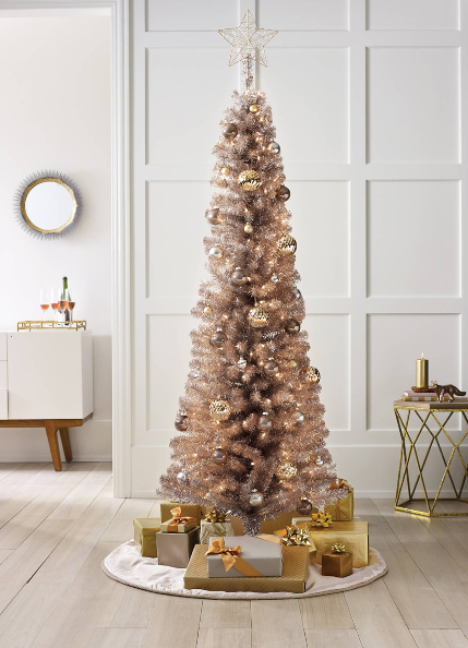 Rose Gold 6 Tree From Target Rose Gold Christmas Rose Gold Christmas Tree Pencil Christmas Tree