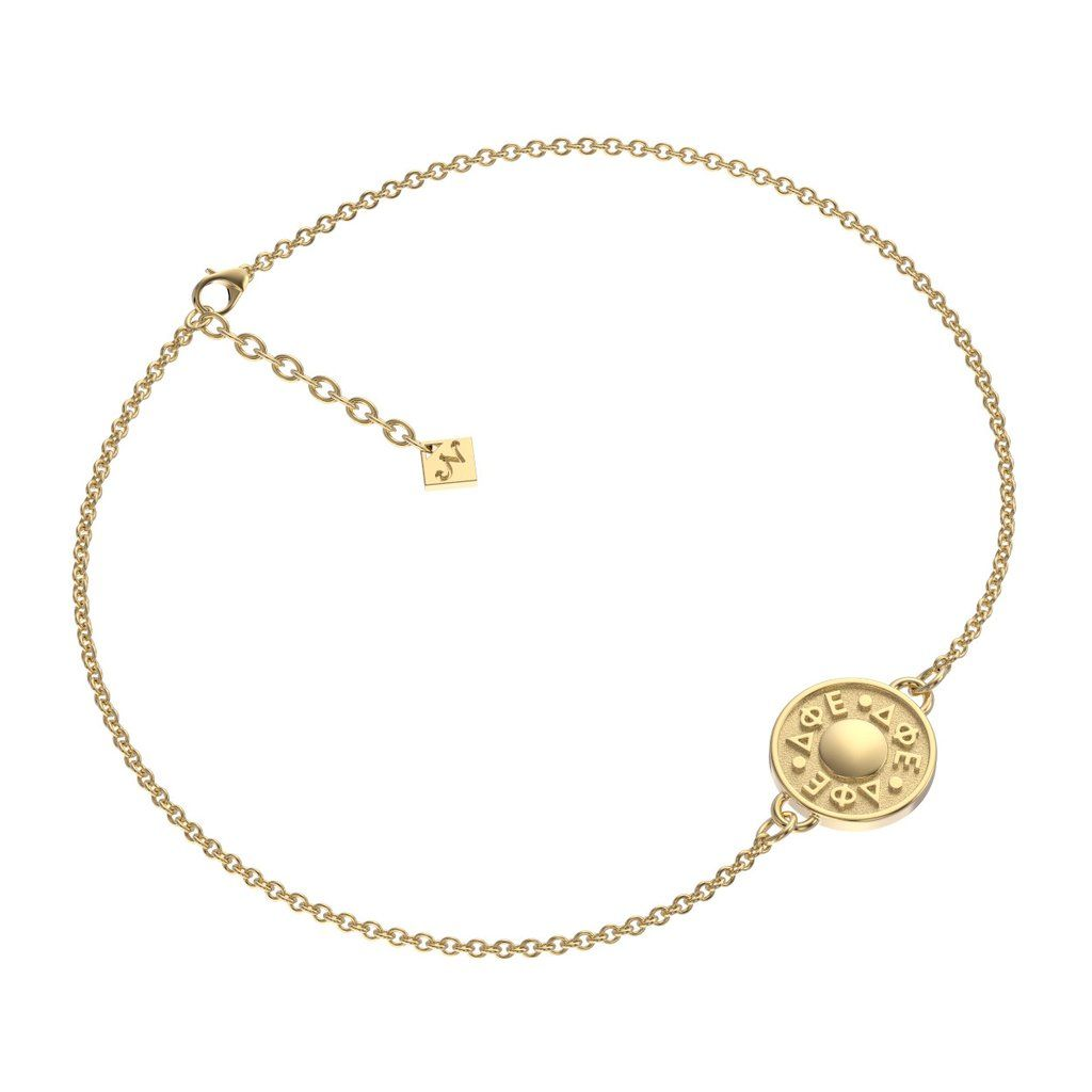 Delta Phi Epsilon Mini Odyssey Bracelet Sorority Gold Necklace
