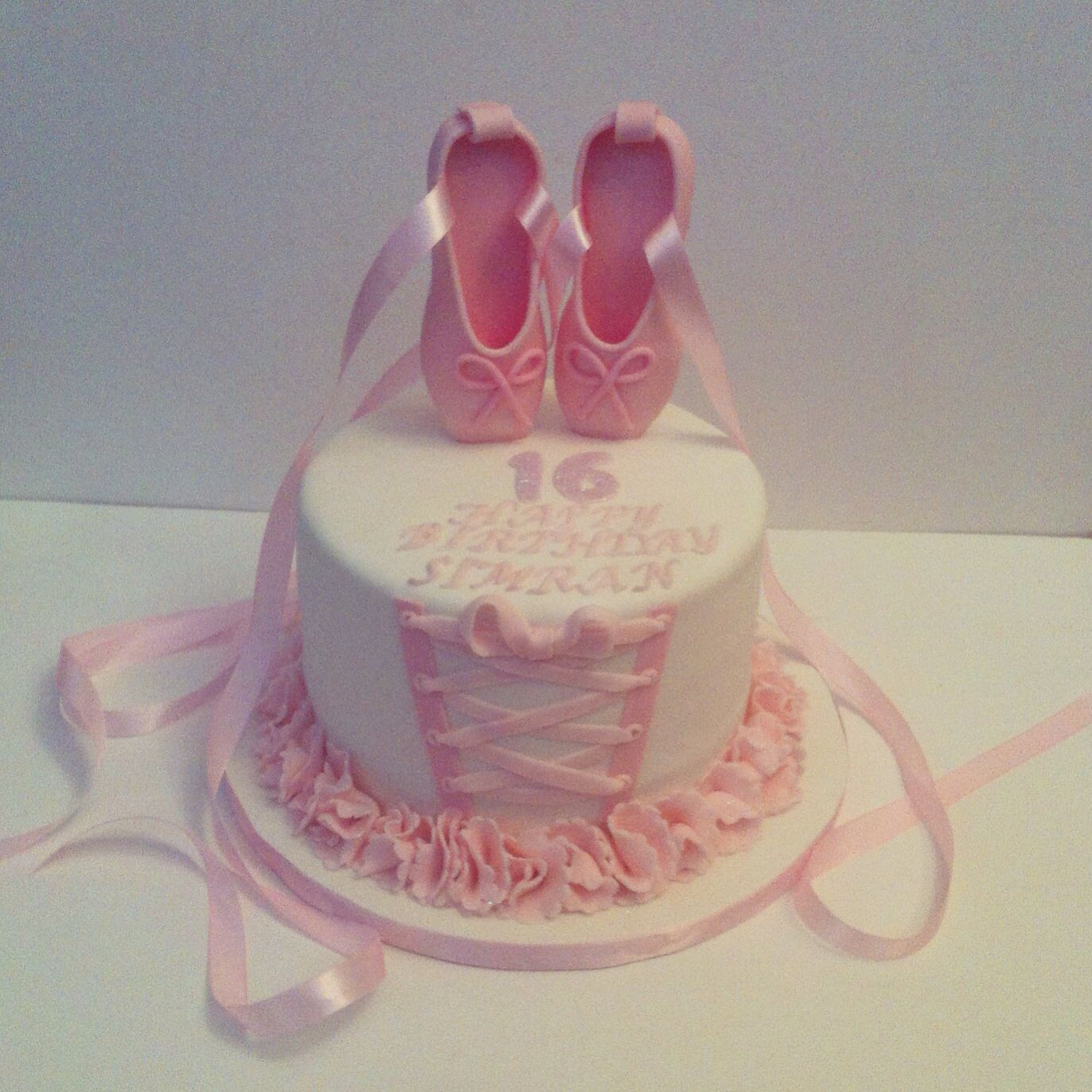 Ballet Shoe With Dress Cake With Images Ballerina Birthday