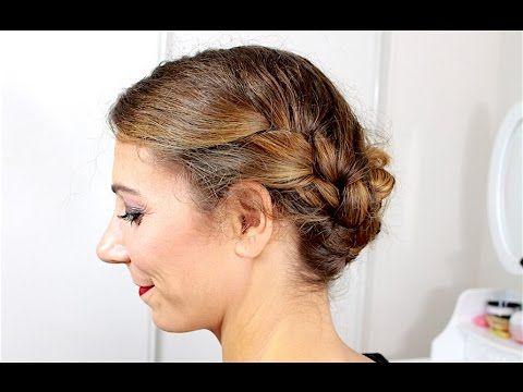 Double tresse collée pour cheveux mi-longs ✨ Marion Blush - YouTube