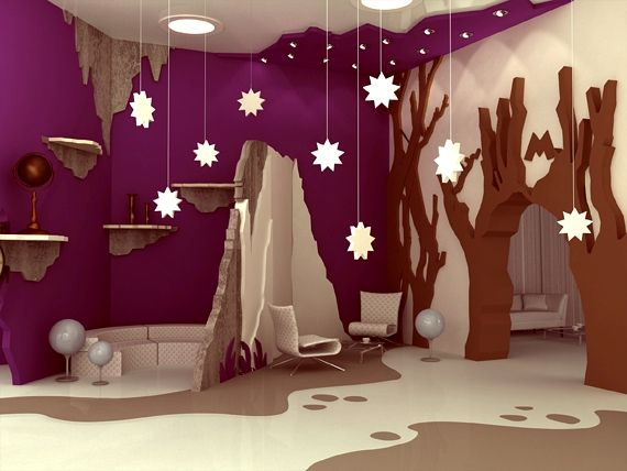 Outstanding Family Entertainment Center Inspired by Novel's Illustration:recreational area with natural phenomenas theme 2