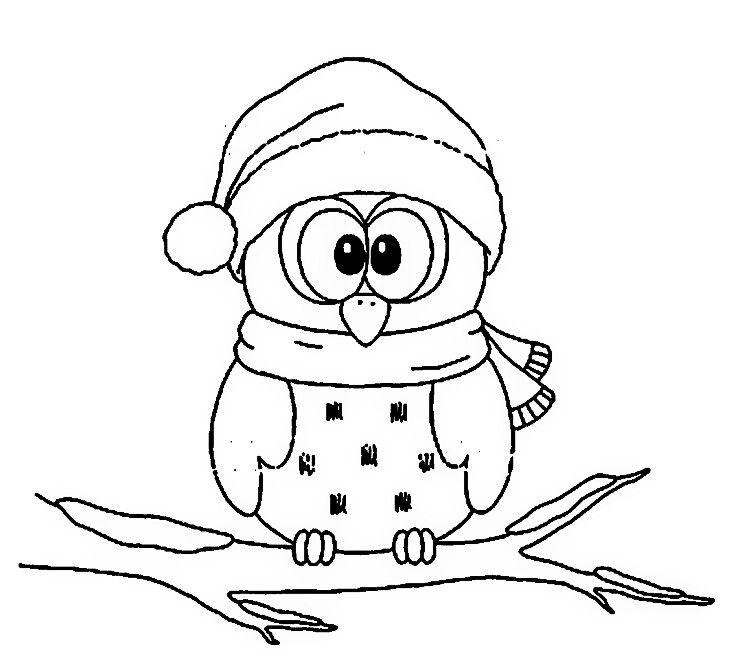 Pin By Natascha Rupflin On Ausmalen Owl Coloring Pages Christmas Coloring Pages Christmas Owls