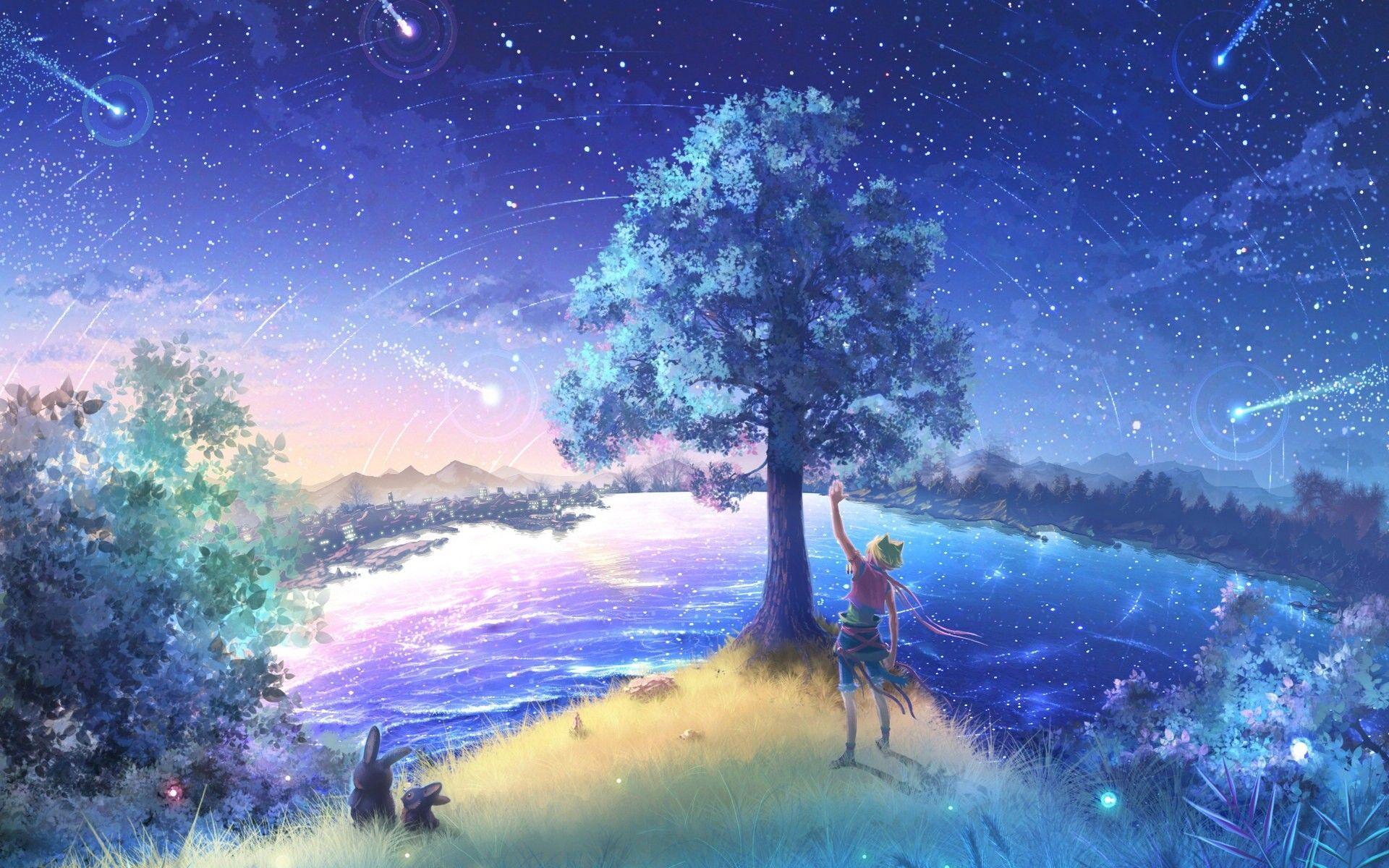 1920x1200 Firefly Summer Beautiful Anime Wallpaper 14 1920x1200