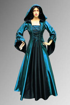17baa7ced24 Details about Mediaeval Renaissance Sorceress Gown witch Medieval ...