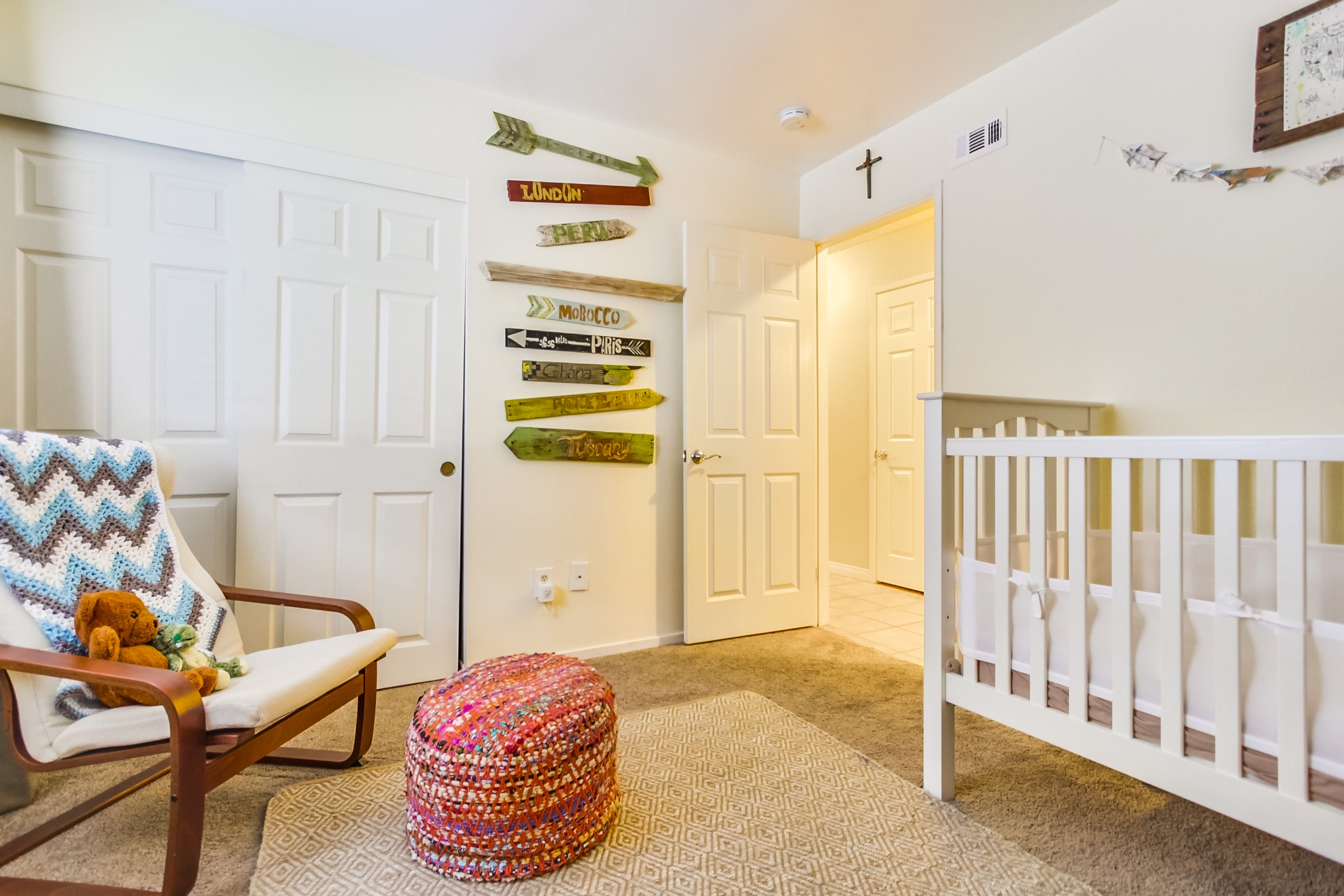 Beautiful nursery with soft hues, textures, and that great ...