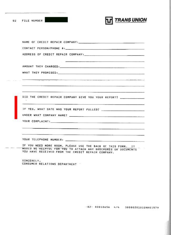 Form Letters Credit Repair Credit Repair Secrets Exposed Here