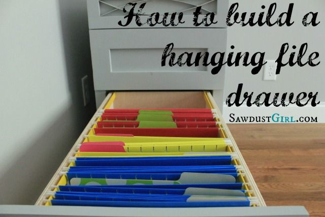 Hanging File Drawer Tutorial Key Info Is Home Depot Has Metal Rails That I Want