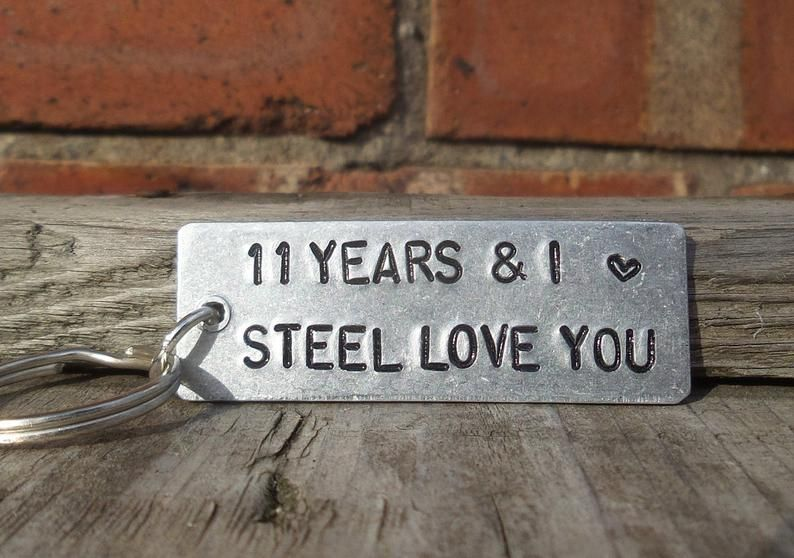 11 Years And I Steel Love You Key Ring 11th Wedding Anniversary Gifts For Men Women Anniversary Husband Wife Traditional Keychain Love Gift Mens Anniversary Gifts 11th Anniversary Gifts 11th Wedding