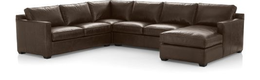 Brilliant Davis Leather 4 Piece Sectional Sofa Right Arm Apartment Gmtry Best Dining Table And Chair Ideas Images Gmtryco