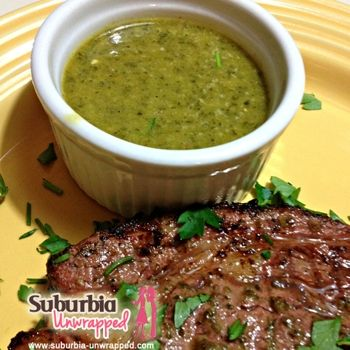 Chimichurri Dipping Sauce And Marinade        2 cups extra virgin olive oil      1 cup red wine vinegar      1/2 cup fresh lime juice (4 to 5 limes)      4 jalapenos, seeded and chopped      8 cloves garlic      2 cups flat leaf parsley leaves      1 cup fresh oregano      2 tsp red pepper flakes      salt and pepper to taste