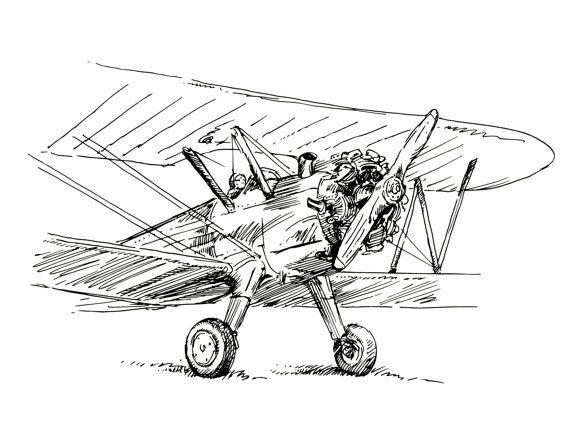 Airplane Nursery Art Set Of 4