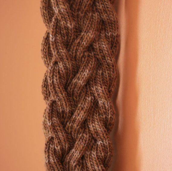 Reversible Cable Scarf- Knitting Pattern | Pinterest | Knitting ...