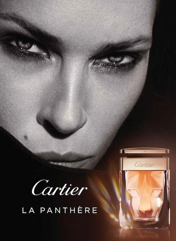 Model Erin Wasson Cartier La Panthere Beauty