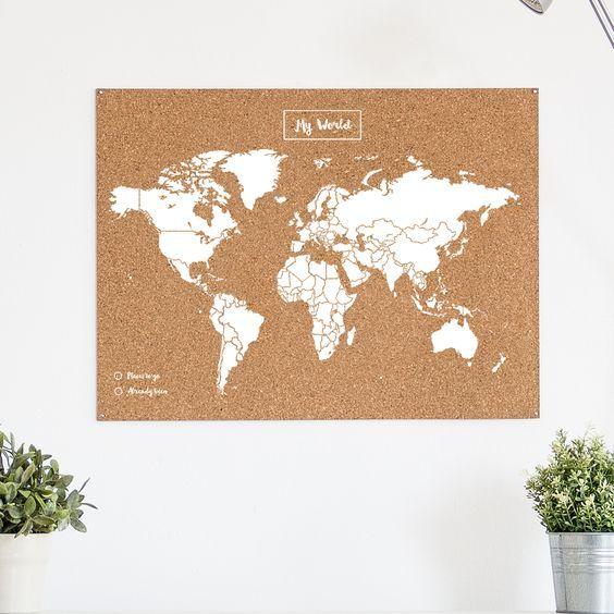 Tienda online mapamundo de corcho desde 24 90 comprar mapa pol tica del mundo tu - Mapa de corcho ...