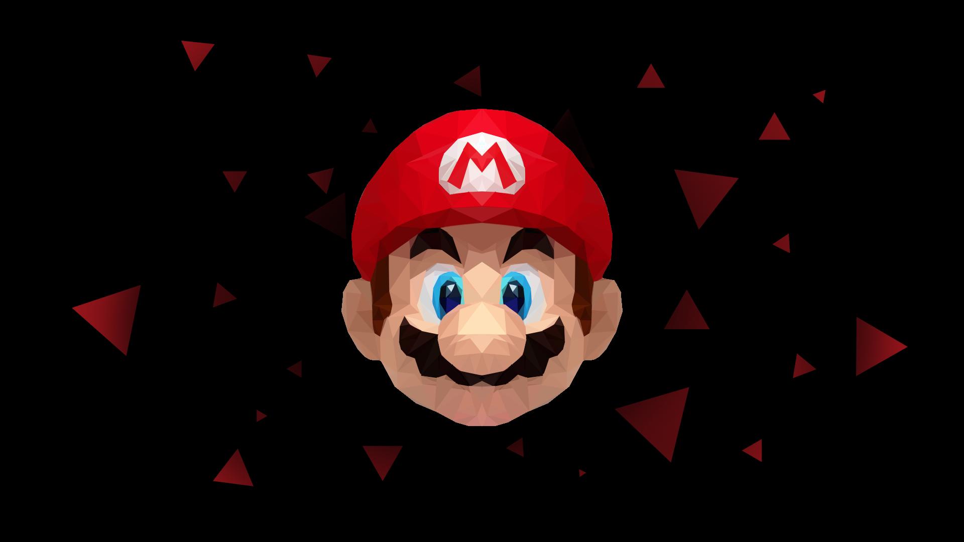 LowPoly Mario Wallpaper (1920x1080) Wallpaper, Mario