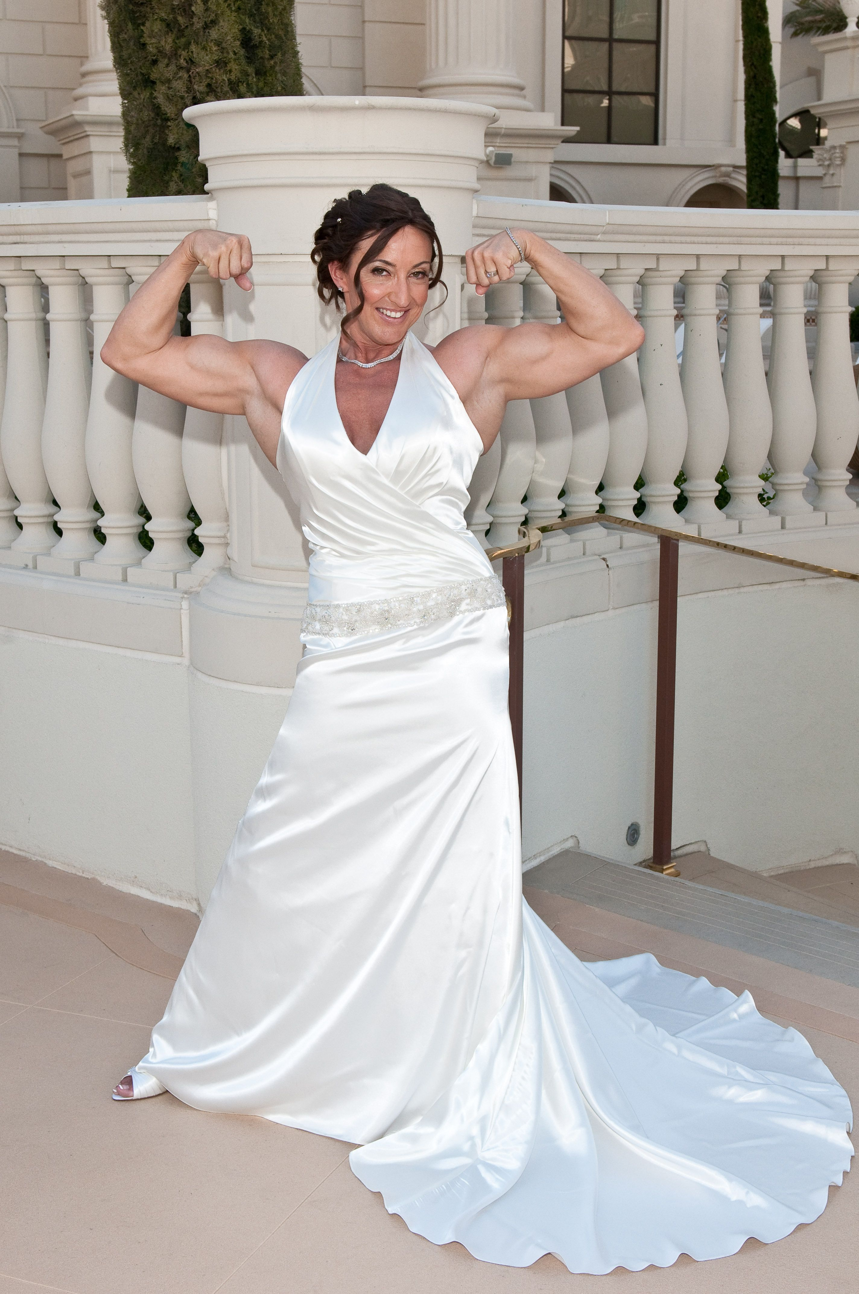 Bettina Kadet Salomone Bride Workout One Shoulder Wedding Dress Bride
