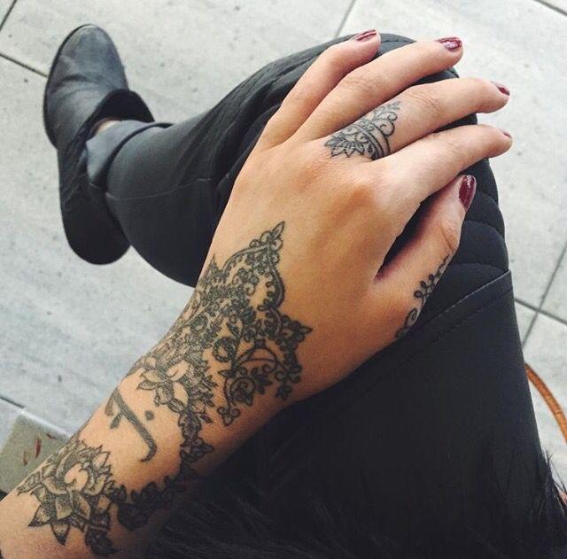 olivia fayne pattern work tattoo designer hand piece tatts pinterest tattoos hand. Black Bedroom Furniture Sets. Home Design Ideas