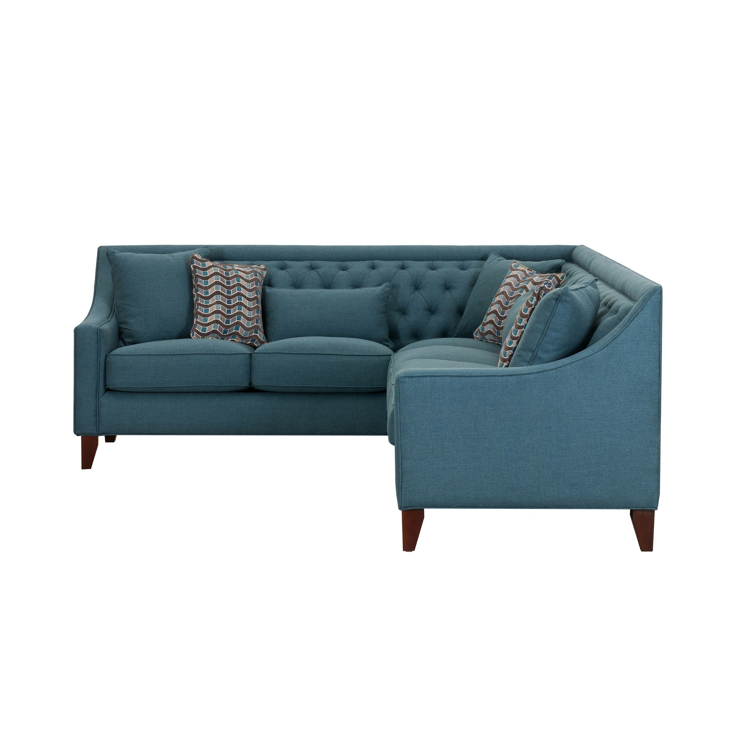 Chic Home Fulla Linen Tufted Back Rest Modern Contemporary Right Facing Sectional Sofa Teal Walmart Com Sectional Sofa Couch Sectional Sofa Teal Sofa