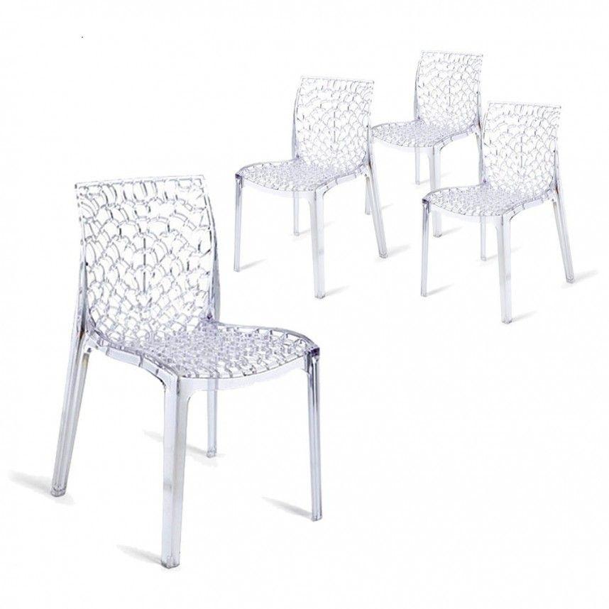 Lot De 4 Chaises Transparentes En Polycarbonate Effet Tres