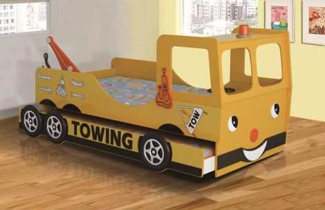 pretty nice 77eb6 6ddf9 yellow tow truck bed | kids | Truck toddler bed, Kid beds ...