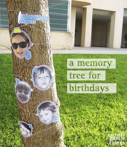 Árbol del recuerdo, por Raquel Feria, aka Rachel´s Puzzle Things. Fácil y divertido DIY para un cumpleaños. The memory tree. Easy DIY for a birthday. Birthday ideas #diy #party #frozen #rachelsthings