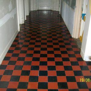 Red And Black Quarry Floor Tiles | http://progloc.org | Pinterest