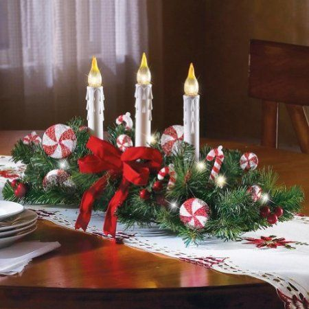 Amazon Com Candy Cane Centerpiece By Collections Etc Health Personal Care With Images Christmas Table Centerpieces Christmas Centerpieces Christmas Centerpieces Diy
