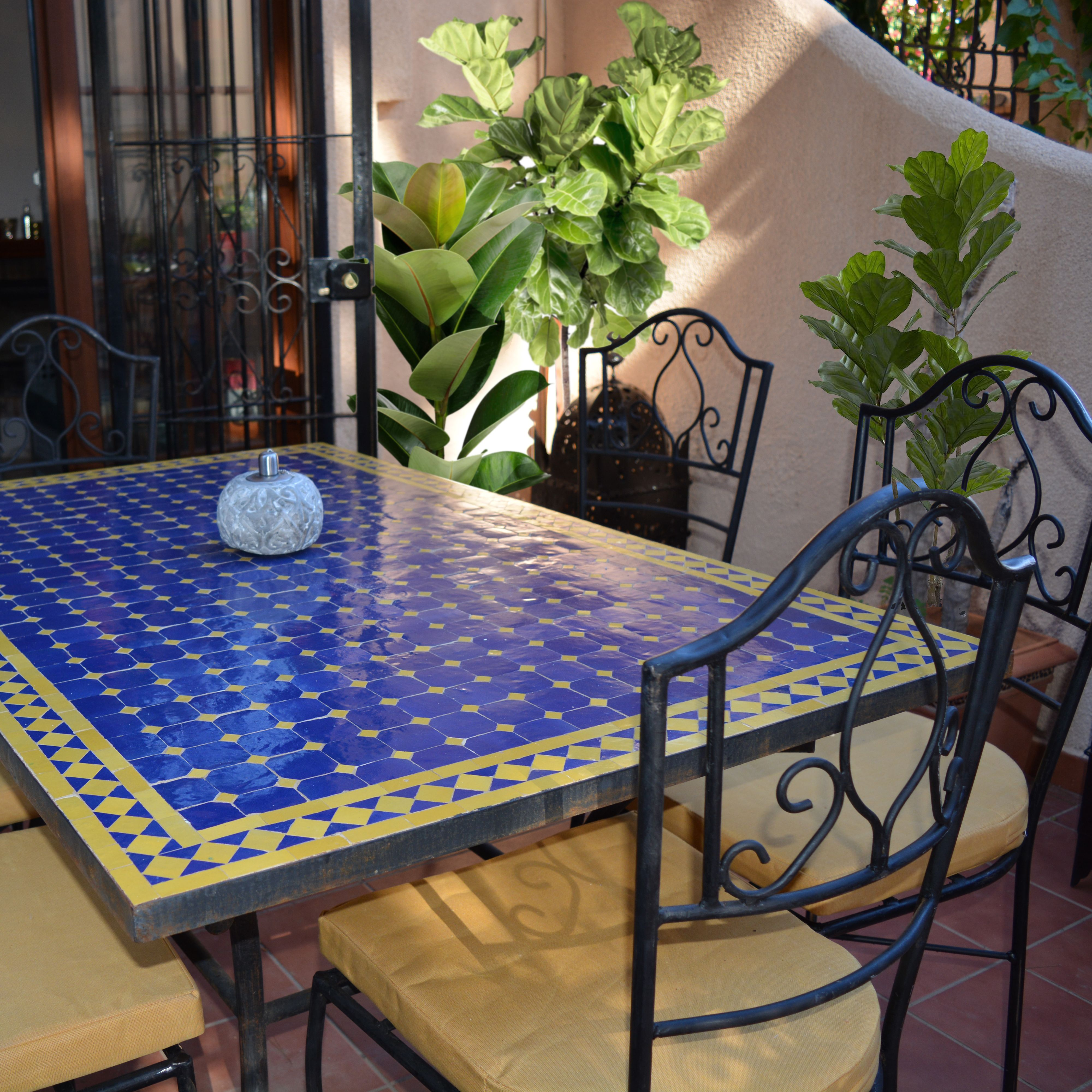 Mosaic Dining Table Moroccan Zellige Tiles 180cm X 90 Producto