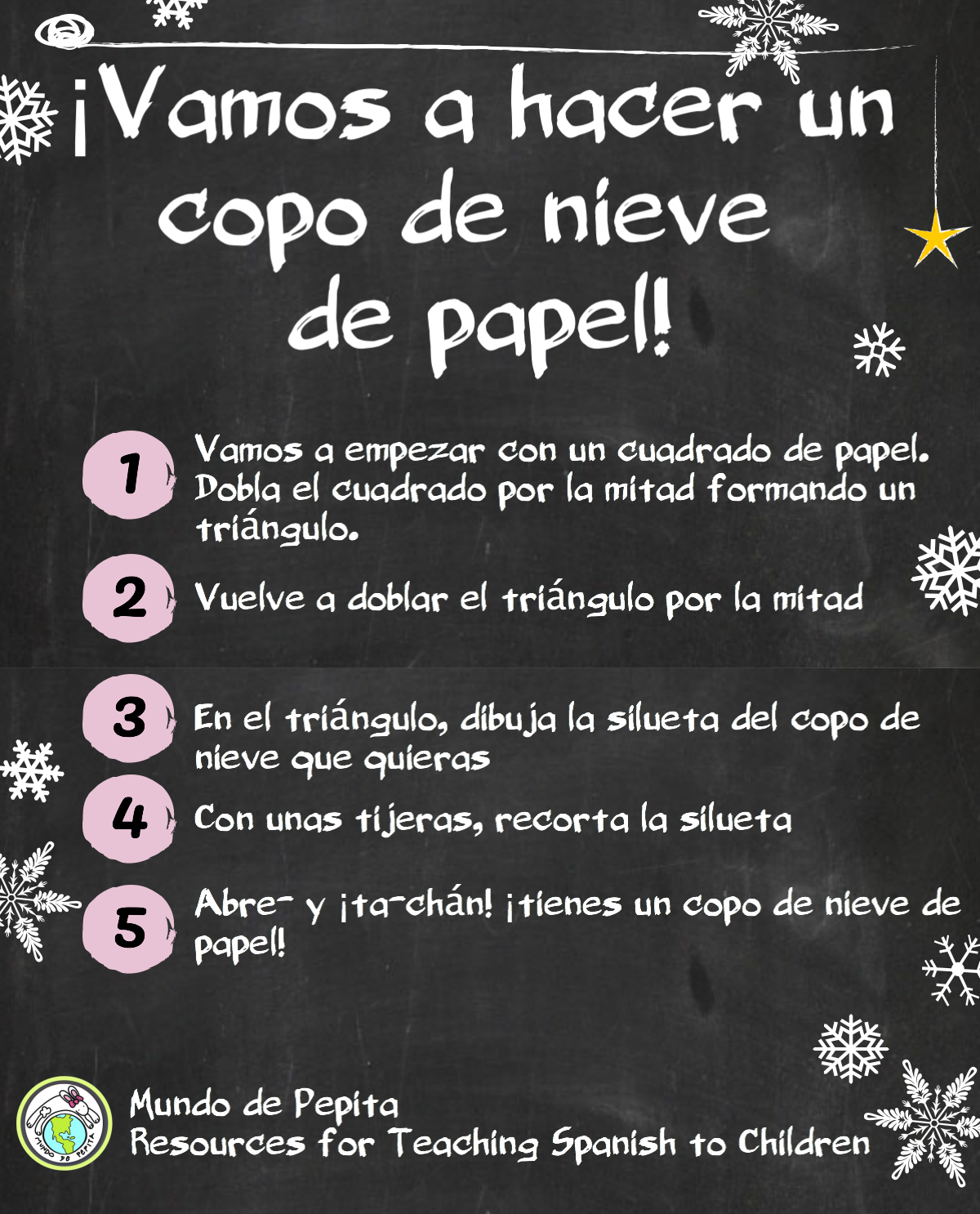 How To Make A Paper Snowflake In Spanish Class In The