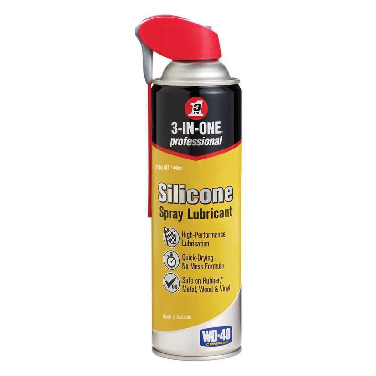 Wd 40 3 In One Silicone Spray Lubricant 300g Silicone Spray Lubricant Wd 40