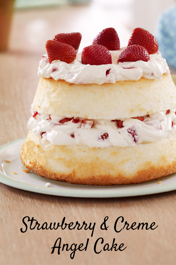 The perfect mothers day dessert fluffy angel food cake with layers the perfect mothers day dessert fluffy angel food cake with layers of strawberry filling recipe dessert forumfinder Image collections
