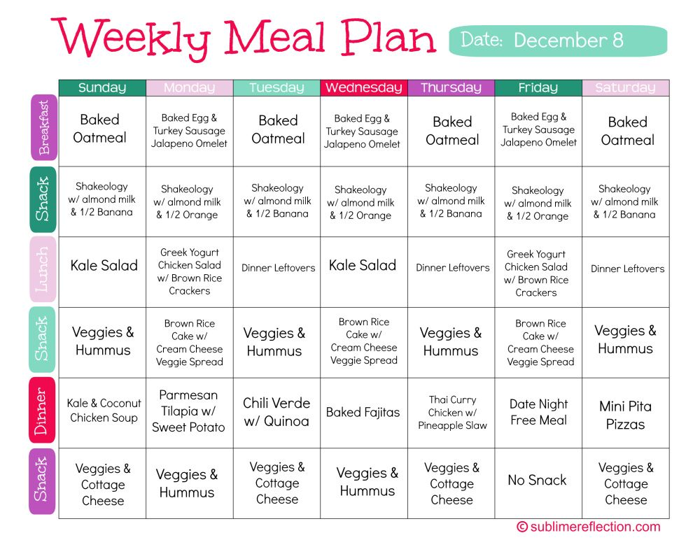 Clean Eating Meal Plan 1 Sublime Reflection Free Clean Eating Meal Plan Clean Eating Meal Plan Week Meal Plan