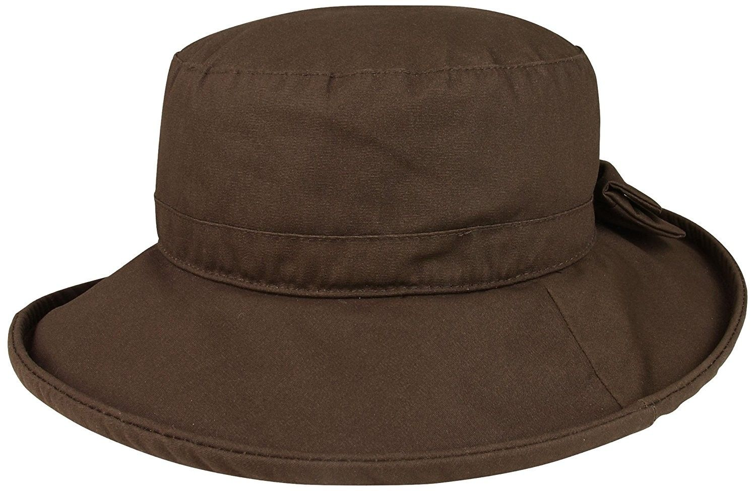 211c0e833 Women's Waxed Cotton Canvas Wide Brim Bucket Hat - Brown ...