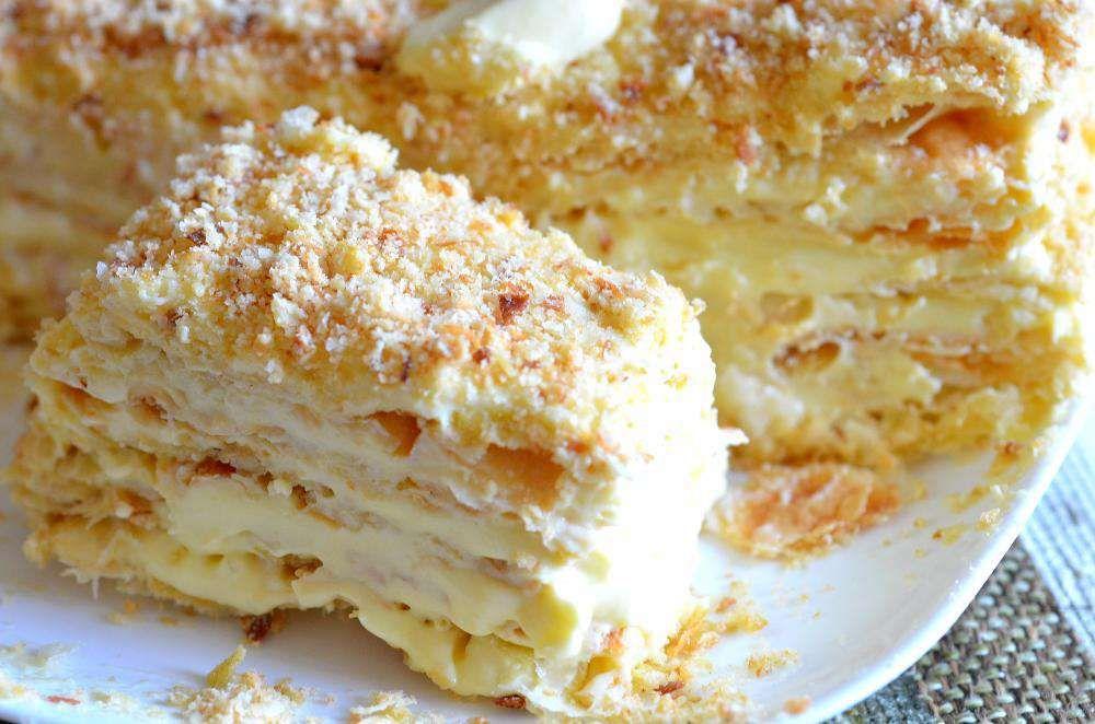 Рецепт торта наполеон нежного