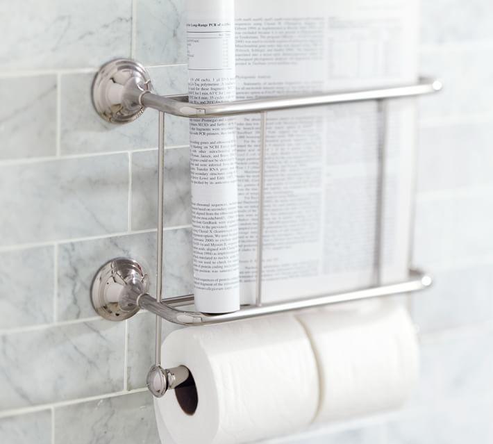 Mercer Magazine Rack Paper Holder Bathroom Hardware Magazine