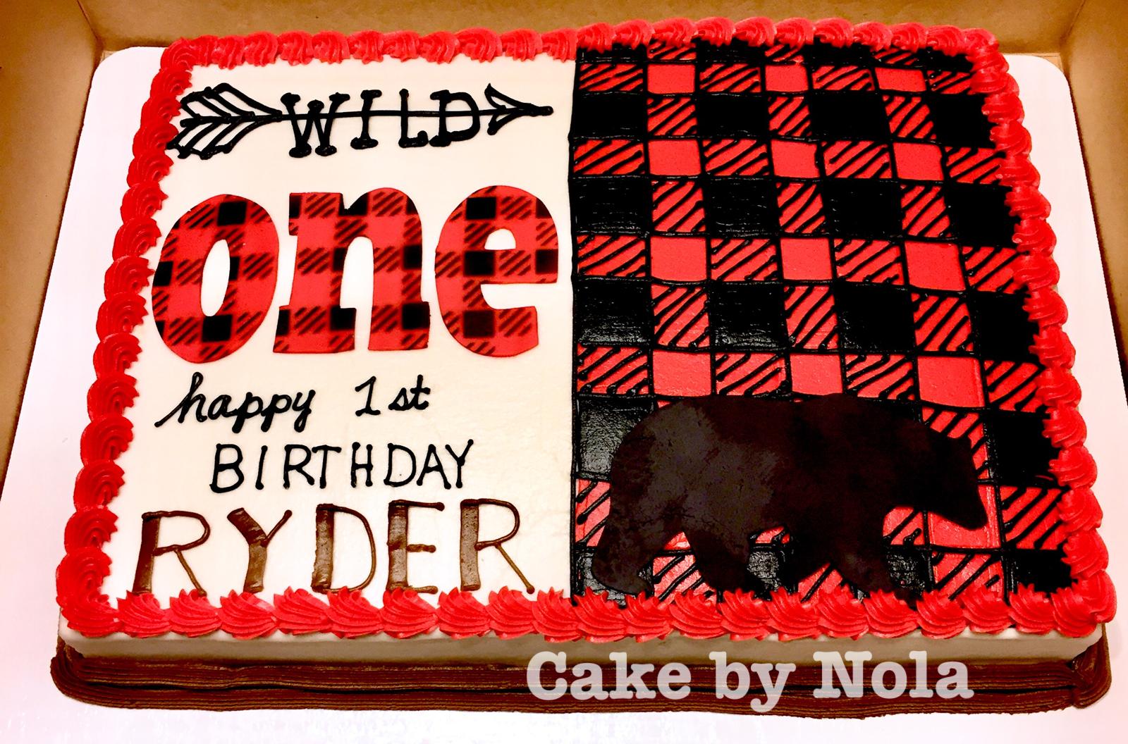 Wild One Buffalo Plaid Cake Cakedecorating Sheetcake Sheetcakesdonthavetobeboring Cakedec Lumberjack Birthday Party 1st Boy Birthday Buffalo Plaid Birthday