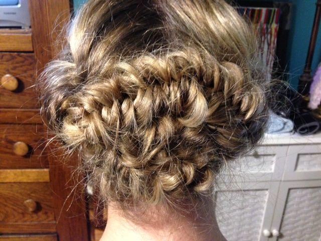 boho hairstyle - fishtail updo